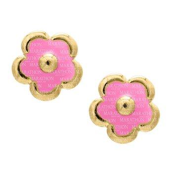14kt Yel Flower Earrings