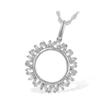 Baguette Diamond Circle Pendant