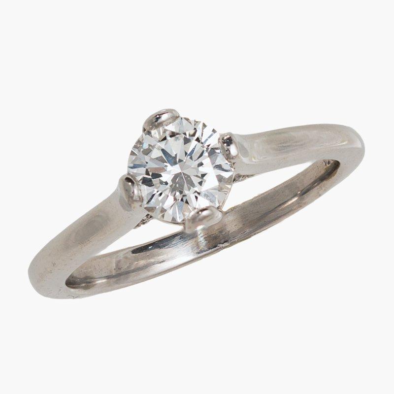 King's Bridal Diamond Engagement Ring .80ct Plat