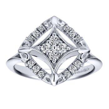 14kt Wh Diamond Design Ring