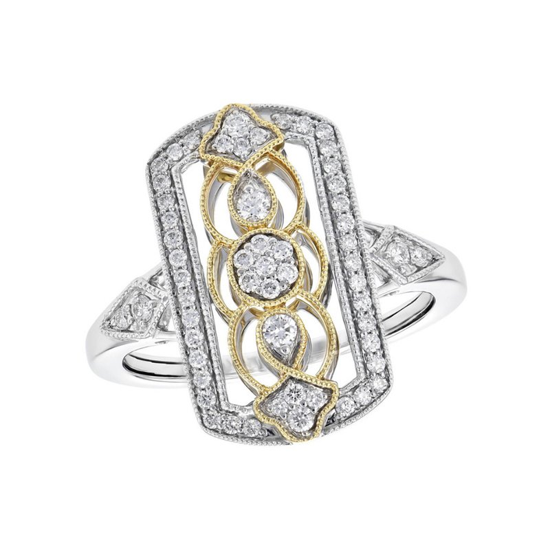 King's Antique Style Filigree Diamond Ring