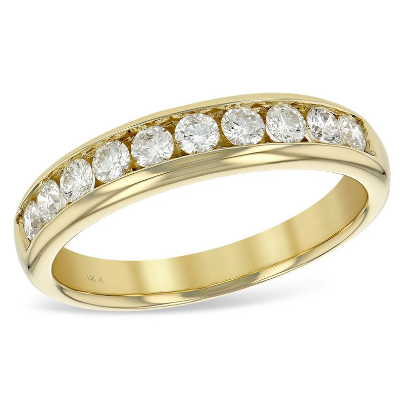 King's 14kt Yel Gold Diamond Band .50tw Channel Set