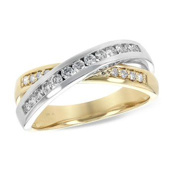 Gold Crossover Diamond Band