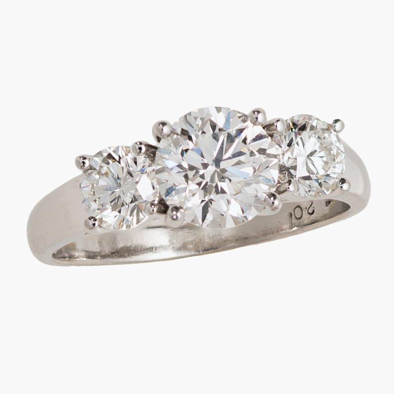 King's Bridal Three Stone Diamond Engagement Ring 2.01tw