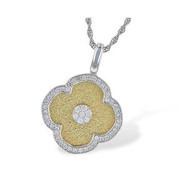 Diamond Four Lobe Pendant
