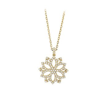 "14kt Yellow Diamond Filigree ""Star"" Pendant"