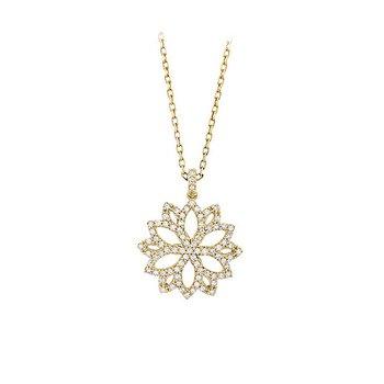 "14kt Yellow Diamond Filigree ""Star"" Pendant"