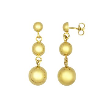 Gold Graduated Ball Earrings