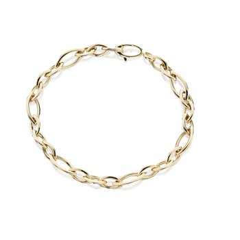 Rose Gold Alternating Naivete Link Bracelet 7.5""