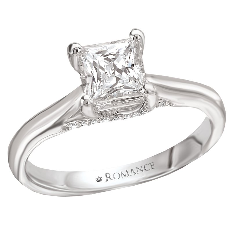 King's Bridal Radiant Cut Diamond Engagement Ring
