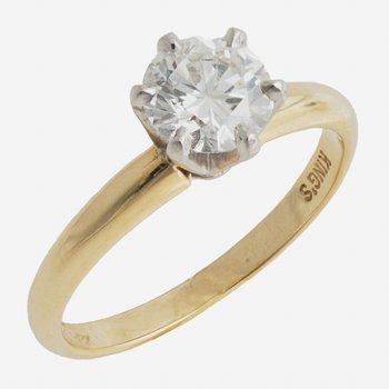 18kt Yel/Plat 1.00ct Engagement Ring H VS1 GIA