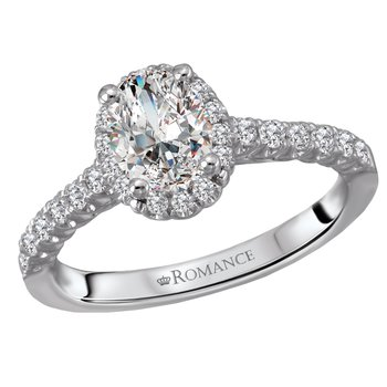 Oval Diamond Halo Engagment Ring