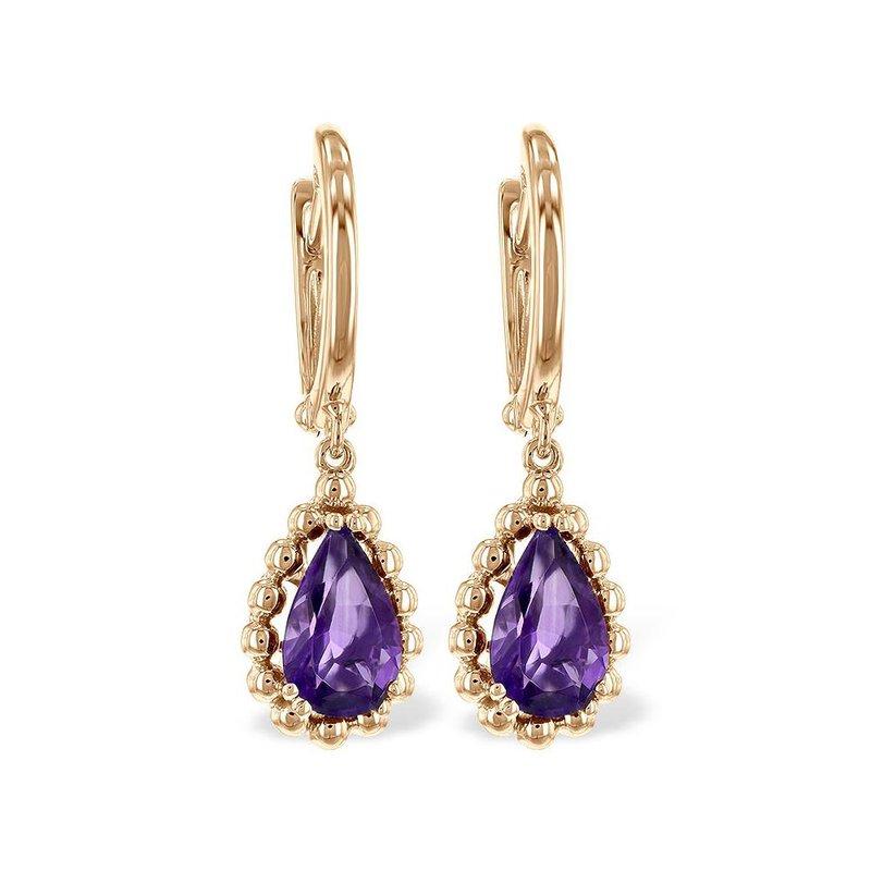 King's Amethyst Dangle Earrings
