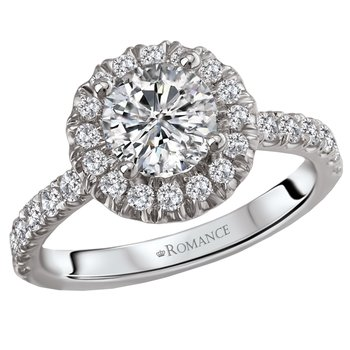 Diamond Halo .96ct Engagement Ring