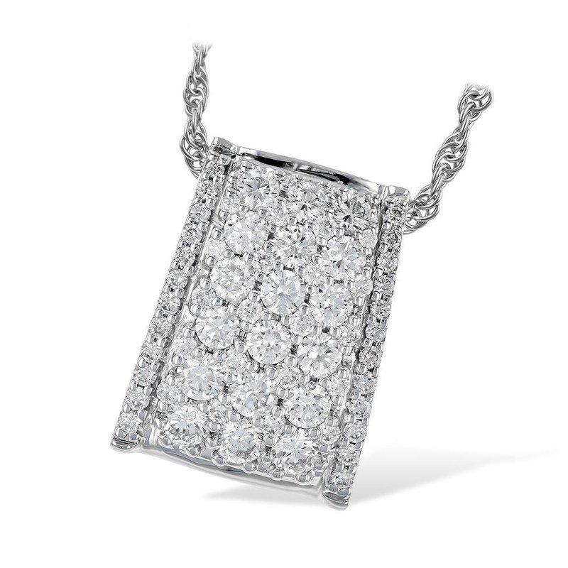 King's Rectangular Graduated Diamond Pendant