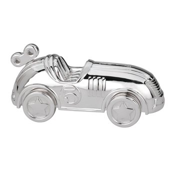 Race Car Bank Silverplate