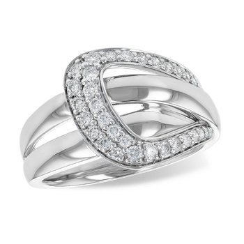 Buckle Style Diamond Ring