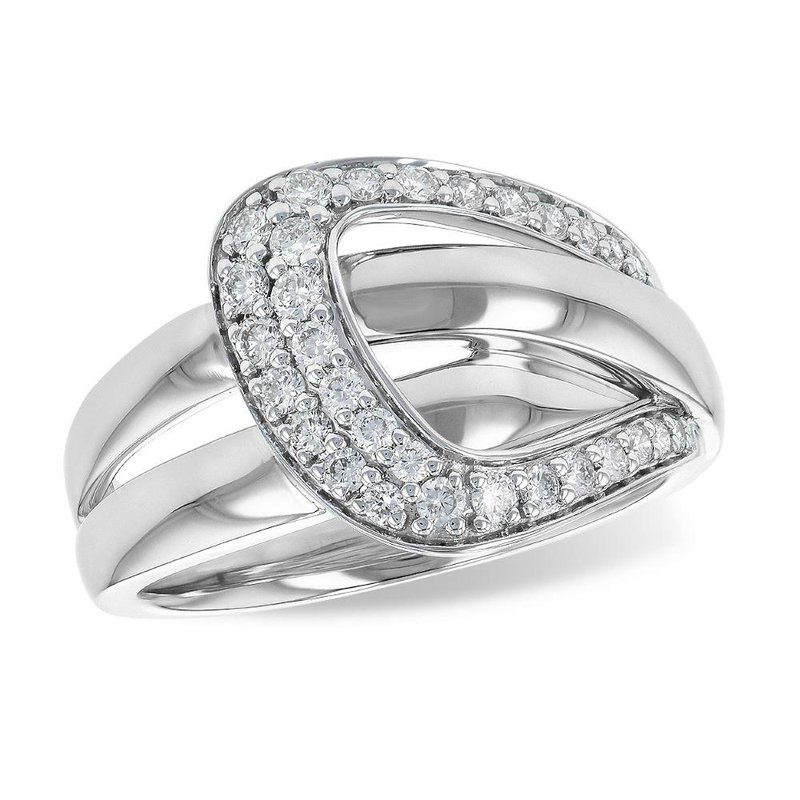 King's Buckle Style Diamond Ring