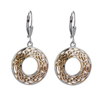 """Window to the Soul"" Sterling & 22kt Gilded Earrings"