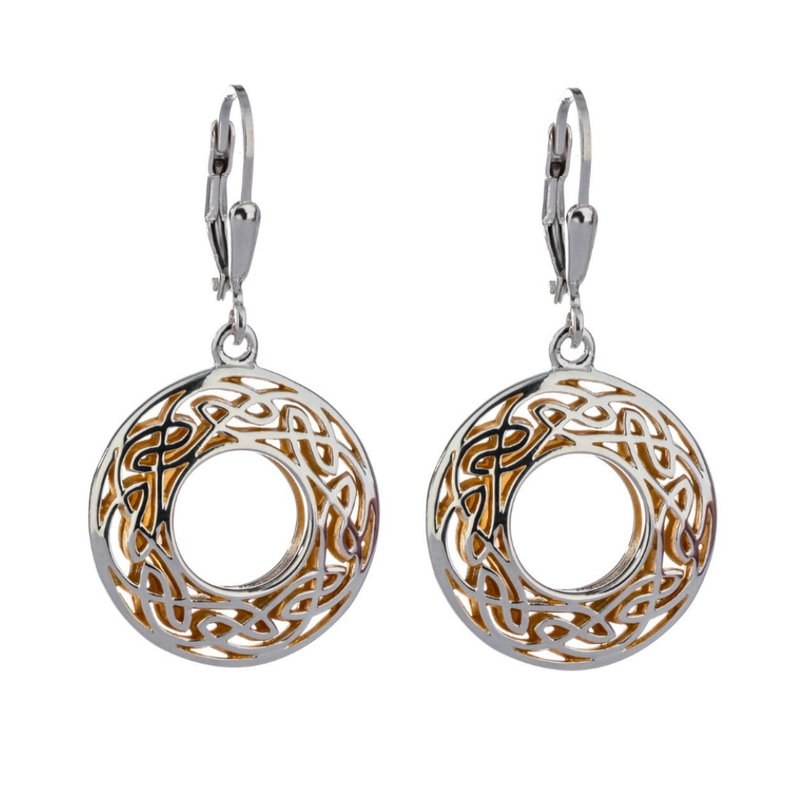"""Keith Jack """"Window to the Soul"""" Sterling & 22kt Gilded Earrings"""