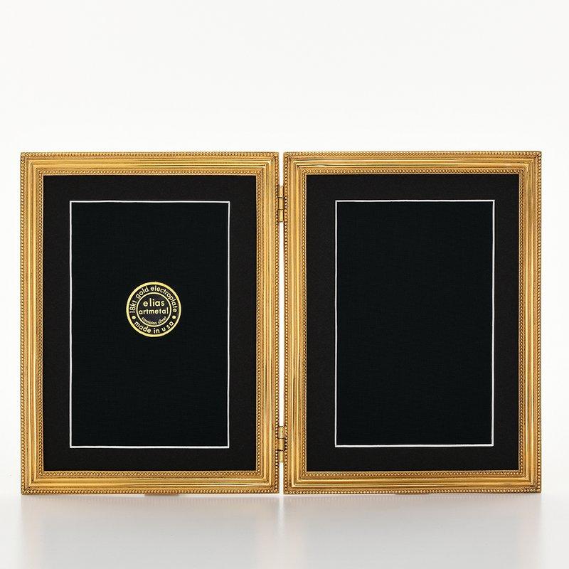 Elias Artmetal Elias Frame 5x7 Double Classico Gold