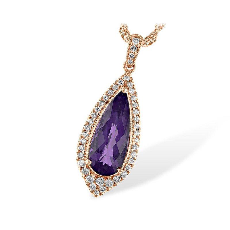 King's Amethyst and Diamond Pendant