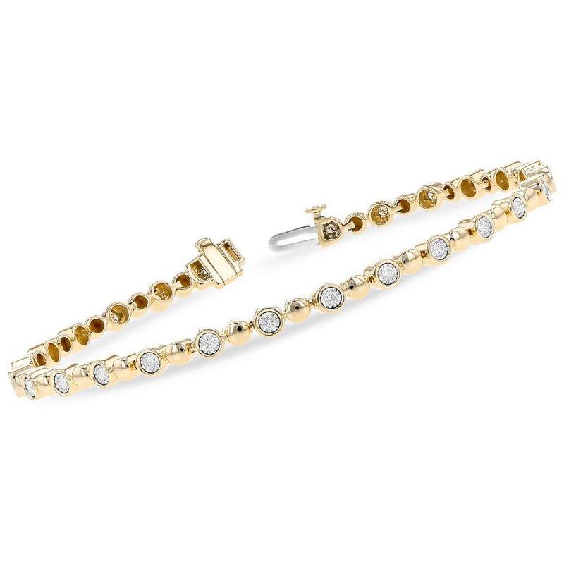King's Bubble Link Bracelet with Diamonds