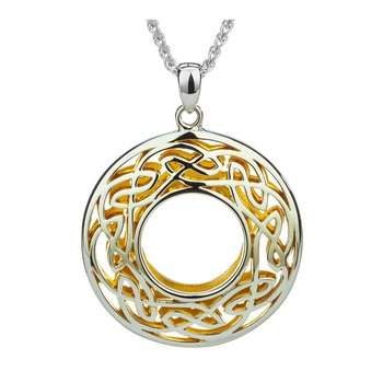 """Window to the Soul"" Sterling & 22kt Gilded"