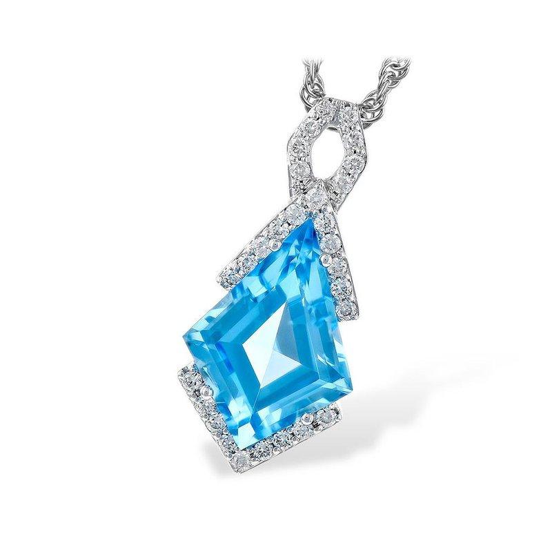 King's Blue Topaz and Diamond Pendant