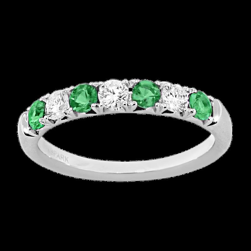 King's Emerald and Diamond Band