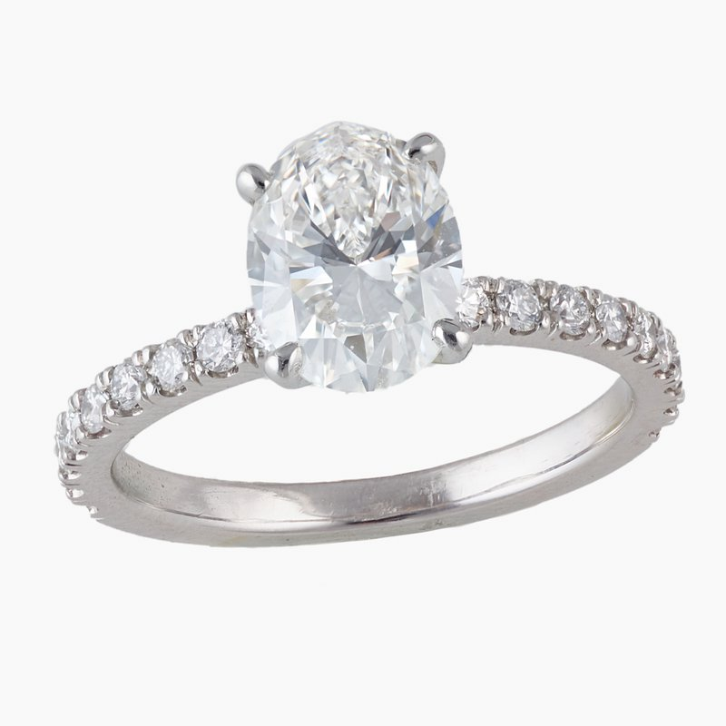 King's Bridal Oval Diamond 1.51ct Engagement Ring