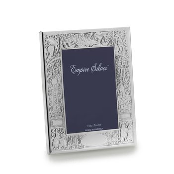 "Pewter Birth Frame  4.75"" x 6"""