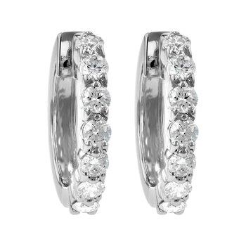 Diamond Hoop Earrings 1.00tw Prong Set
