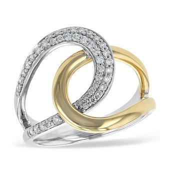 Diamond Twisted Loop Ring