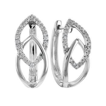 Diamond Hoop Earrings Apex Design
