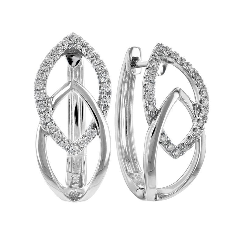 King's Diamond Hoop Earrings Apex Design