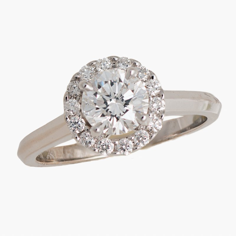 King's Bridal Diamond Engagement Ring w/.94ct and Diamond Halo
