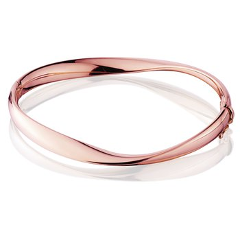 14kt Rose Gold Mobius Shape Bangle Bracelet