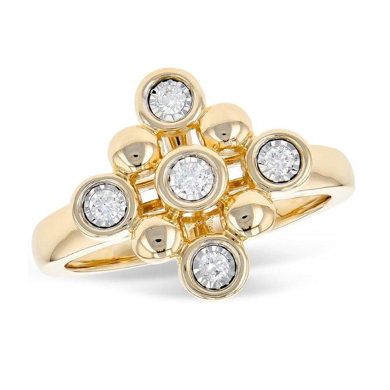 King's Beaded Style Diamond Ring
