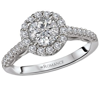 Diamond Halo Engagement Ring w/1.02ct Center