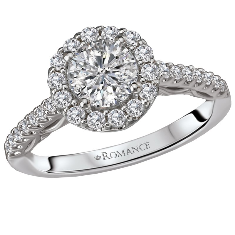 King's Bridal Diamond Halo Engagement Ring w/1.02ct Center