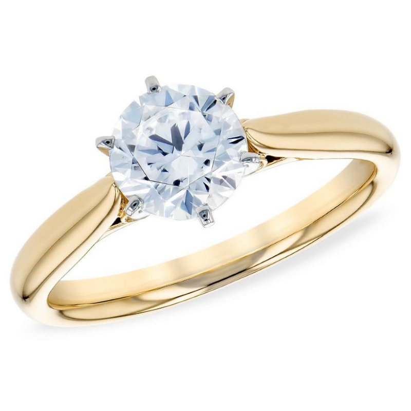 King's Bridal Diamond Solitaire Engagement Ring 1.01ct