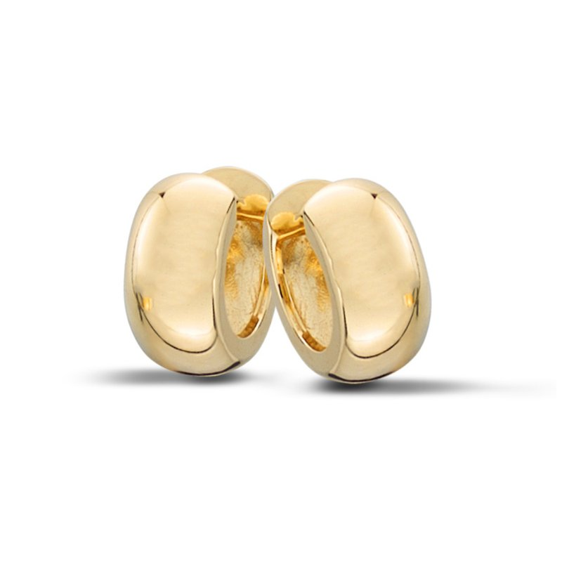 "King's Yellow Gold ""Huggie"" Hoop Earrings"