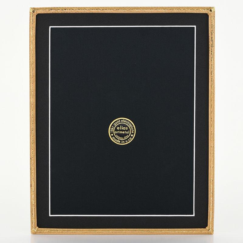 Elias Artmetal Elias Frame 8x10 Herringbone Gold