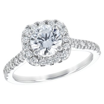 14kt Diamond Engagement Ring 1.00ct with Halo