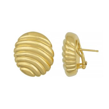 Large Oval Clip-Back Design Earrings