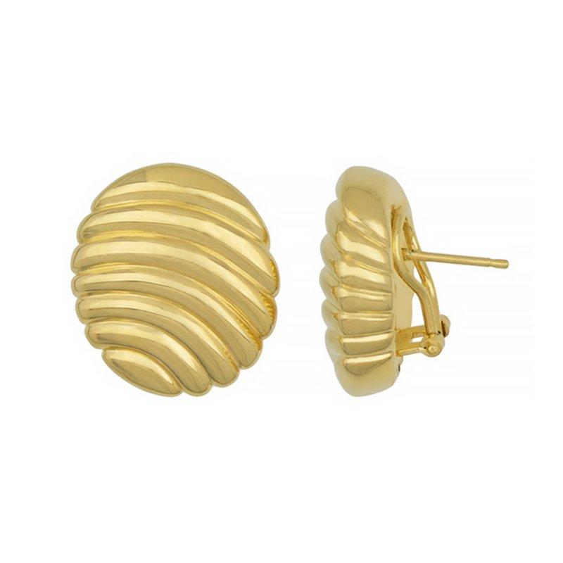 King's Large Oval Clip-Back Design Earrings