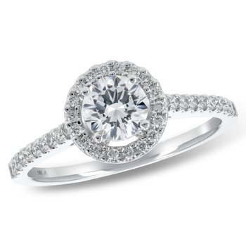 Diamond .52ct Halo Engagement Ring  #030378