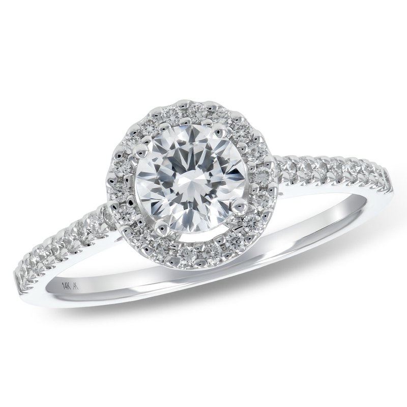 King's Bridal Diamond .52ct Halo Engagement Ring  #030378