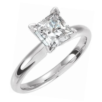 Diamond Engagement Ring Mod Square Cut